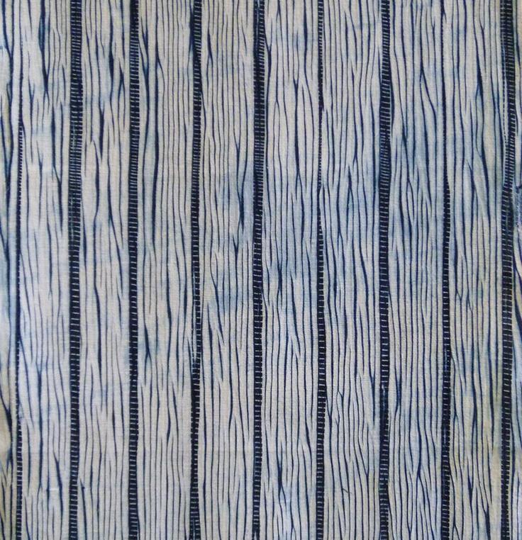 A Length of Arimatsu Shibori: Irregular Stripes
