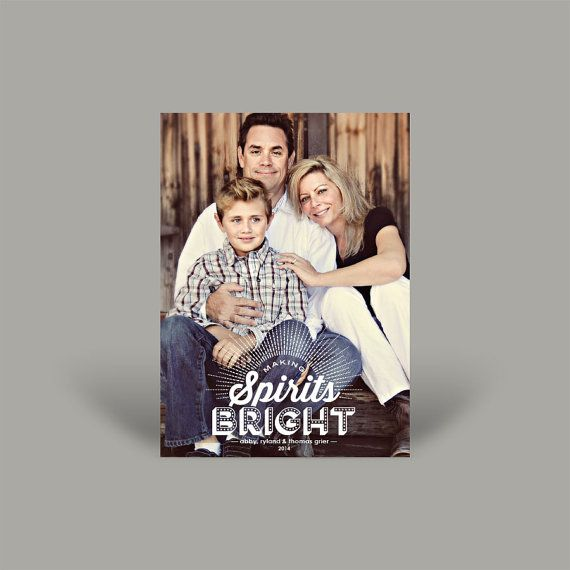 Spirits Bright 5x7 Christmas Card (10 pk)