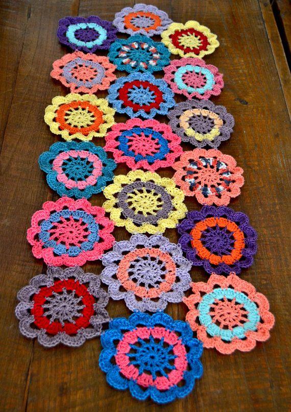 Handmade Crocheted Flower Table Runner Doily 29 by ...