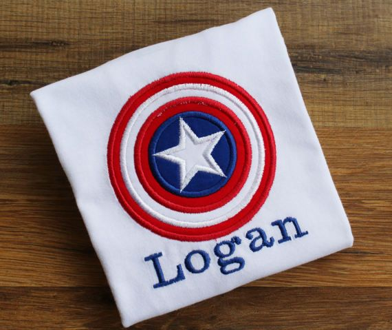 Captain America Shirt.  Captain America by jellybeansNpeanuts