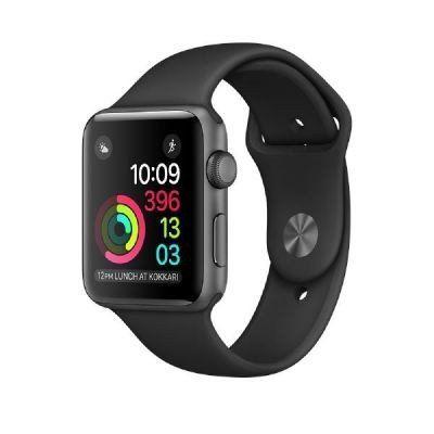 Apple Watch Series 1 38mm Grey aluminium box with Black Sport Band. Apple Watch Series 1 38mm Grey aluminium box with Black Sport Band . Special features - Connected object Feature1: WLAN Feature2: Bluetooth Feature3: touchscreen Connectivity Bluetooth: 4.0 WLAN: Yes Screen Screen type: Retina Display: Digital Color display: Yes Touch screen: Yes Resolution (pixels): 272 x 340 Equipment Speaker: Yes Microphone: Yes Functions Heart rate monitor: Yes Connections: operating system…