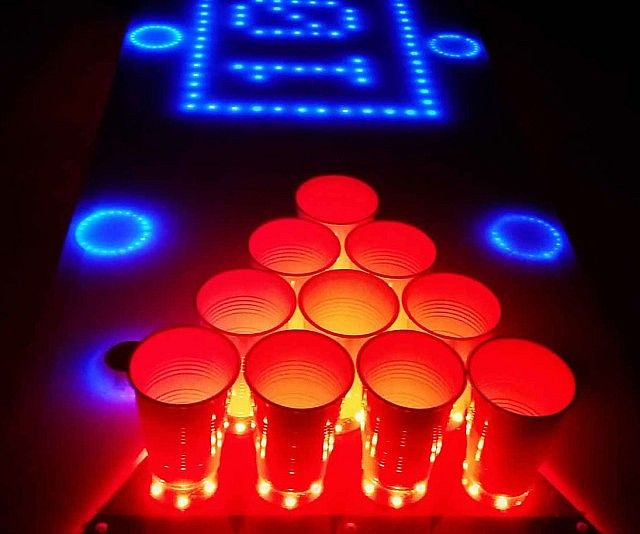 14 best future game room images on pinterest play rooms - Interactive led beer pong table ...