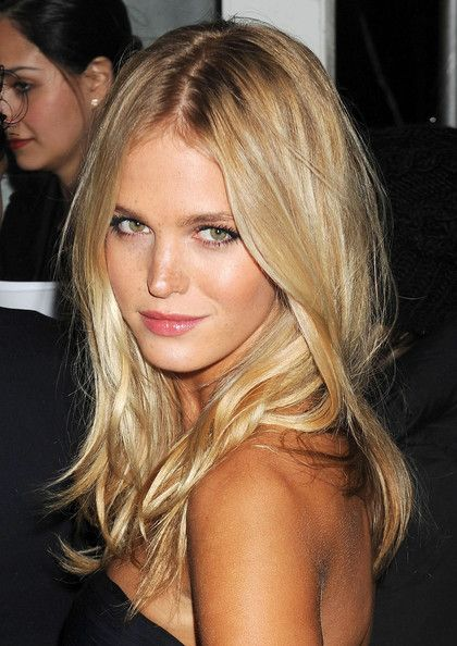 Pretty, tousled hair.  Erin Heatherton