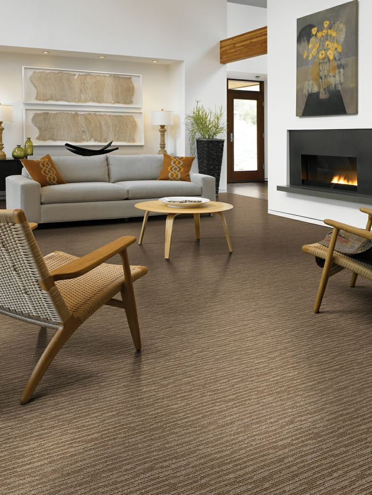 Subtle touch is a two colored cut and loop carpet with a Carpet for living room