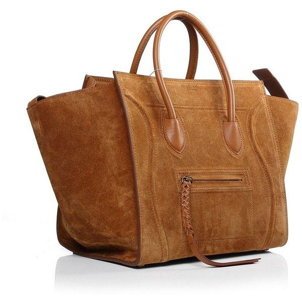Celine Luggage Phantom Bag in Camel Suede ? liked on Polyvore ...