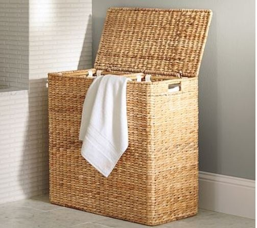 14 best images about laundry baskets on pinterest for Small bathroom hamper