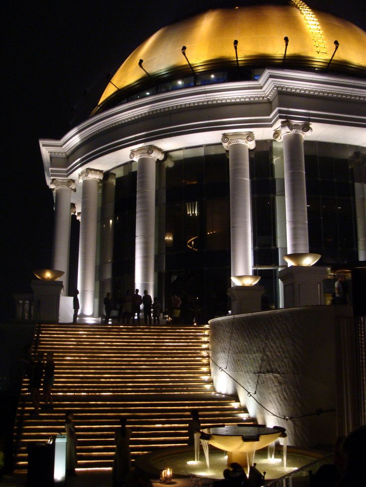 Sirocco Sky Bar - the highest Rooftop bar  (820 ft/250 m) in Bangkok, Thailand lebua Hotels and Resorts seen in Hangover 2 movie