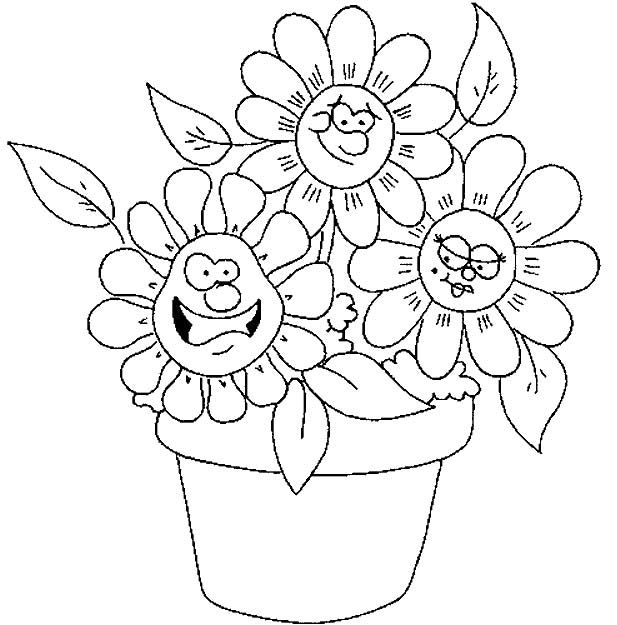 cute spring flower coloring pages printable things pinterest. Black Bedroom Furniture Sets. Home Design Ideas