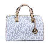 Michael Kors Grayson Large Women's Satchel Purse Handbag White
