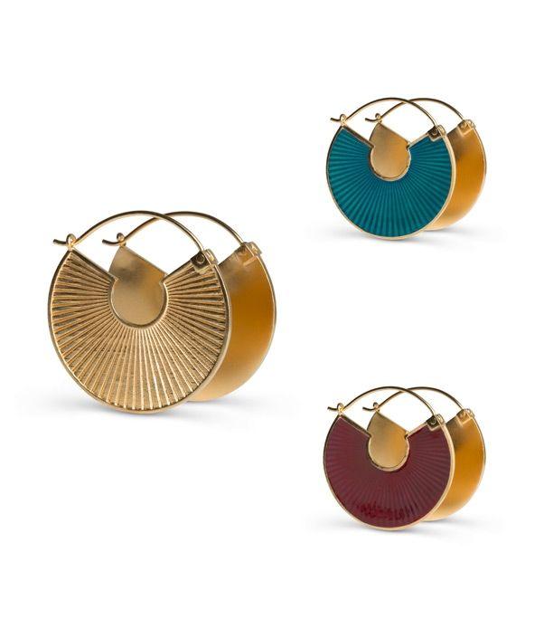 Plissé earrings
