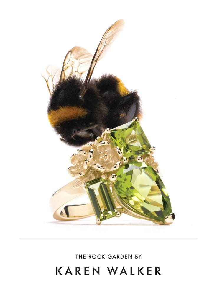 Karen Walker Peridot Rock Garden Ring
