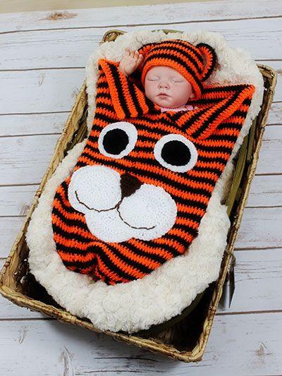 Crochet - Children & Baby Patterns - Cocoon Patterns - Tiger Cocoon