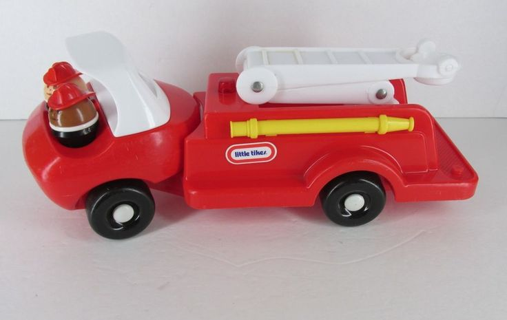 vintage little tikes toddle tots fire truck with two fireman