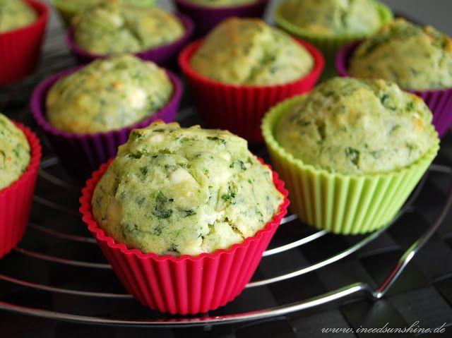 [Veggie Rezept] Herzhafte Spinat-Feta-Muffins | I need sunshine