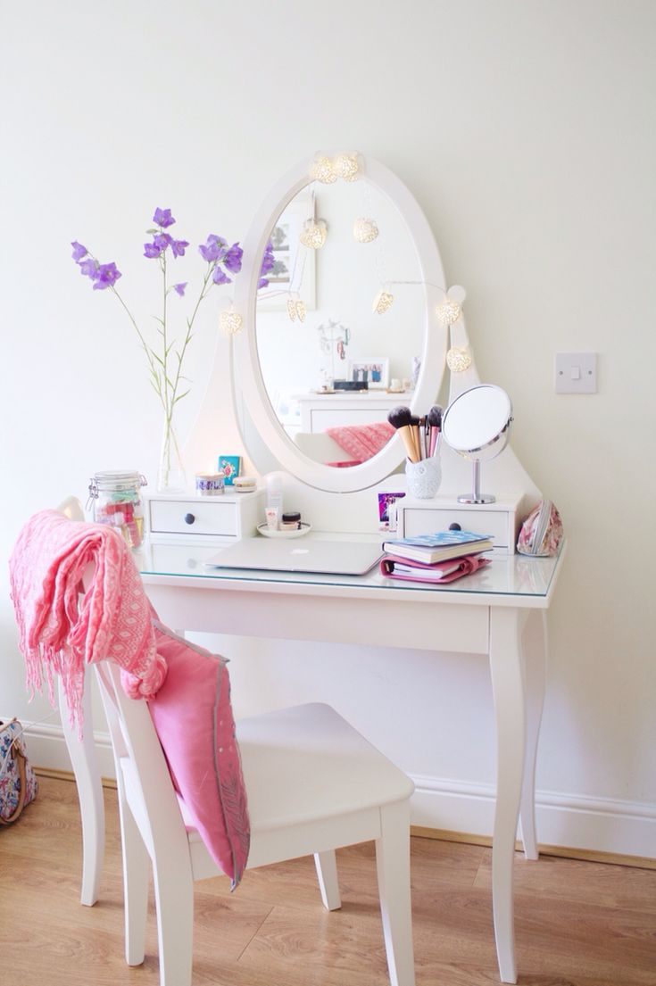 IKEA vanity table #interiors #decor #dressingtable