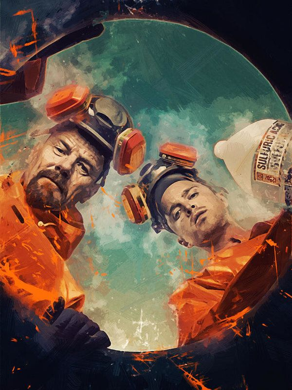 Breaking Bad Print by Afterdarkness. Brian cranston, aaron paul,breaking bad, walter white, walter, jessie pinkman, pinkman, heisenberg, portrait, albuquerque, new mexico, walt, jesse, tv, television, hollywood, actor, celebrity, cult, breaking bad poster, gift poster, gift ideas, home decor, office decor, bar, cafe, poster, print