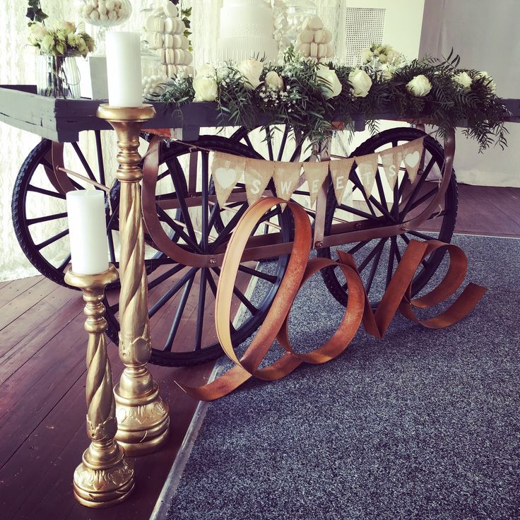 Vintage Market Cart By - One Big Day Event Hire