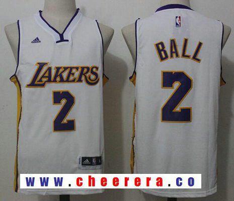 85a1d2c4ed6 Men s 2017 Draft Los Angeles Lakers  2 Lonzo Ball White Stitched NBA adidas  Revolution 30 Swingman Jersey