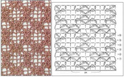 Jednoduché mriežkovaná Háčkovanie Vzory