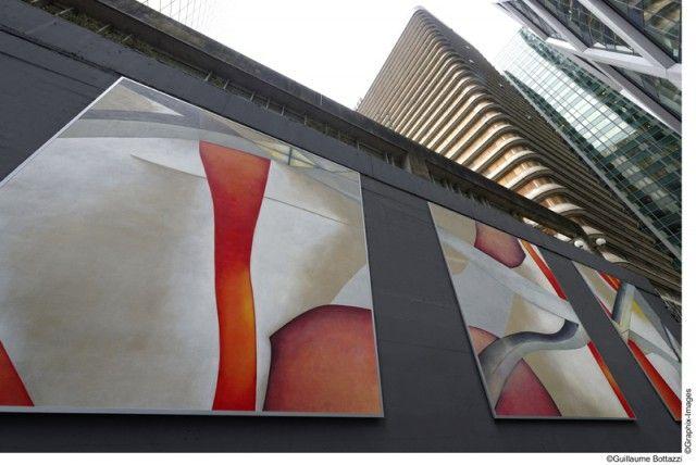 La peinture monumentale de Guillaume Bottazzi devient la 70ème oeuvre d'art du parcours artistique de La Défense – Fubiz™
