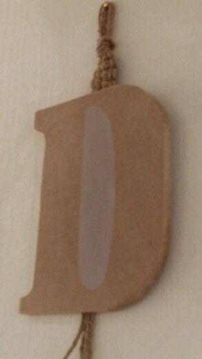 Lettere in legno da appendere