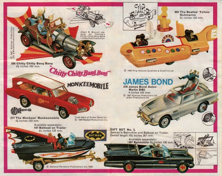 1968 Corgi Toys - I had all of these.