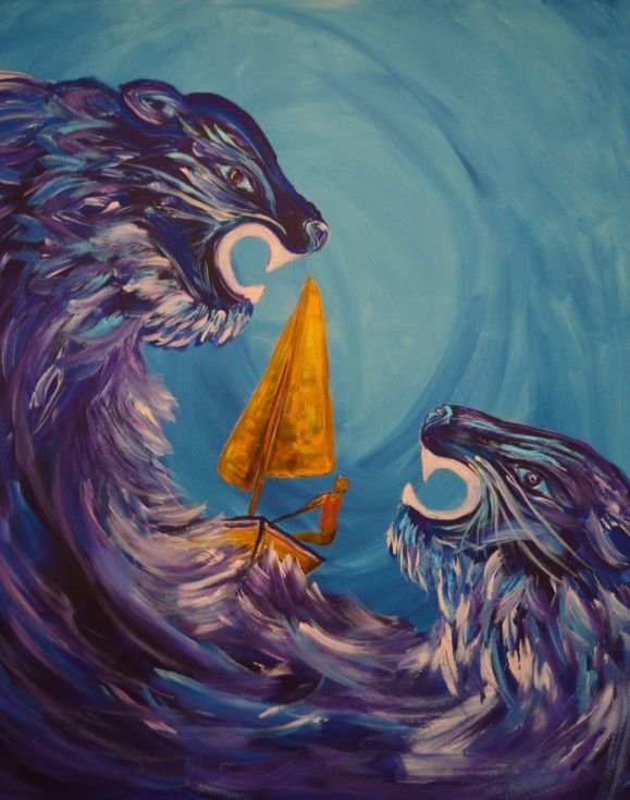 Buy Sailing The Wild Waves, Acrylic painting by Zena Cameron on Artfinder. Discover thousands of other original paintings, prints, sculptures and photography from independent artists.