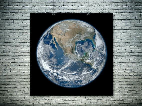 The Blue Marble.One of the most detailed images of by PasteUpStore