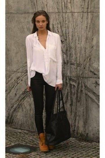 Cómo combinar las botas de Timberland de mujer: Fotos de los modelos ...