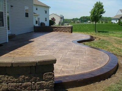 37 Best Ideas About Stamped Colored Concrete On Pinterest