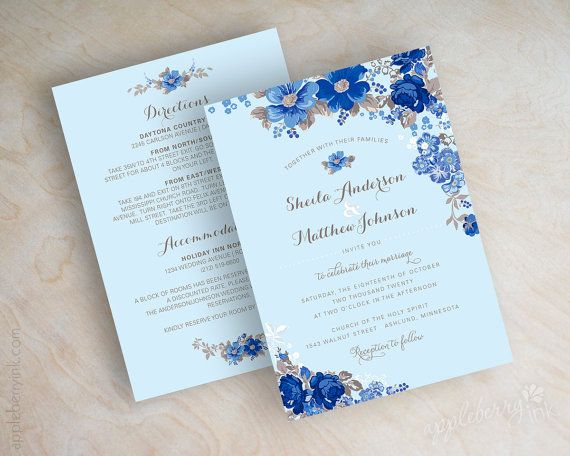 Royal Blue Wedding Invitation Cards: 25+ Best Ideas About Cornflower Blue Weddings On Pinterest