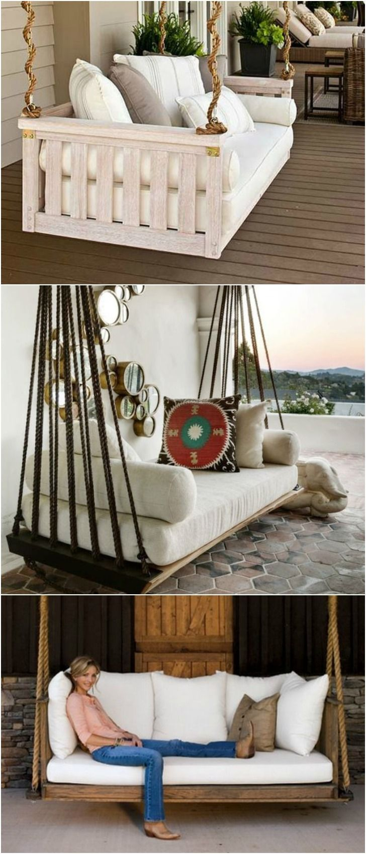 nice 7 DIY Outdoor Swings That'll Make Warm Nights Even Better. #6 Is Just Stunning  #best #DIY #Outdoor #Pallet #Recycled #Swing #top #Wood  1 - Cosy Wood Swing  source Like the mix of old and new, tin roof, wouldn't do the swing tho, just giant cushy bench.  2 - Porch Swings with Ro...