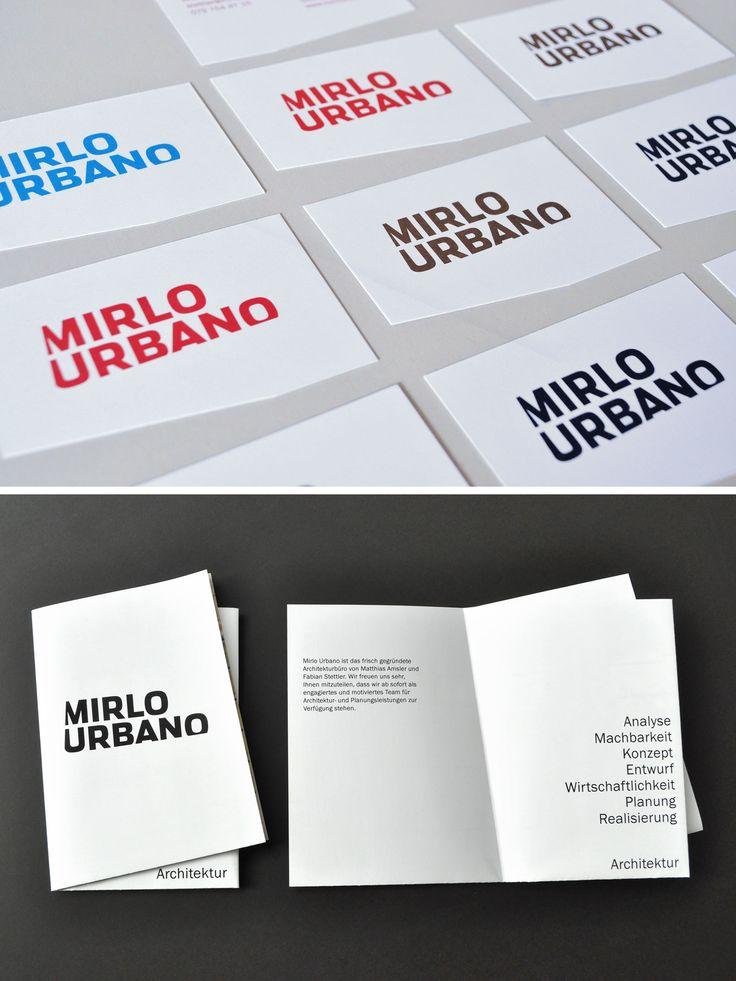 Identity for Swiss architects Mirlo Urbano #corporatedesign #branding