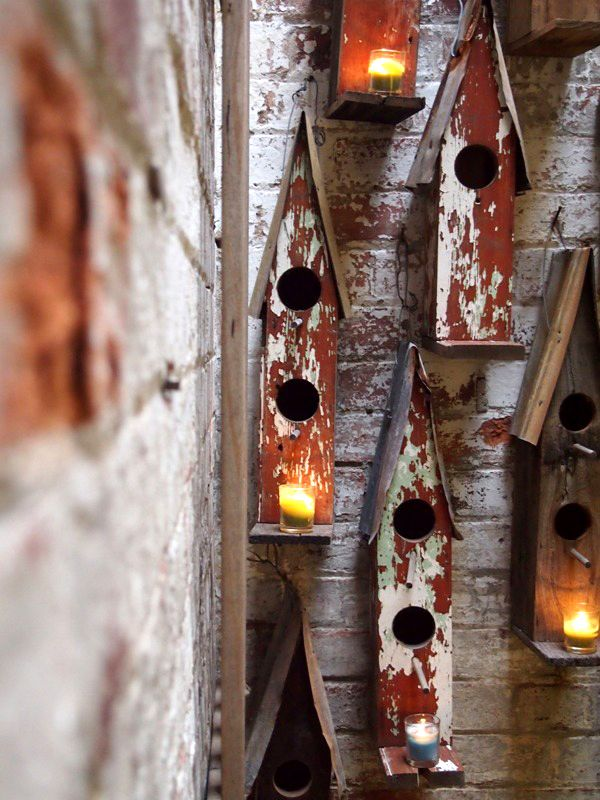 handmade reclaimed birdhouses by Boodle Concepts. these are designed using vintage corrugated rusty iron from old sheds, and the timber is recycled from aged gates and fence palings. http://boodleconcepts.com.au/birdhouse.htm