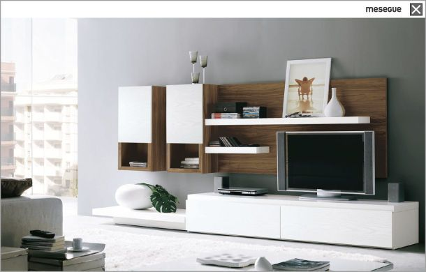 contemporary TV cabinet CLEVER TWO 40 muebles MESEGUE