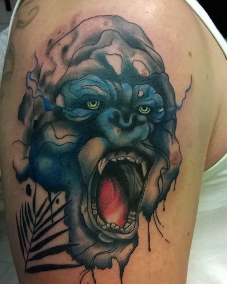 Gorilla wathercolor tattoo
