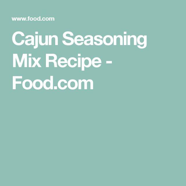 Cajun Seasoning Mix Recipe - Food.com