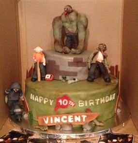 Zombie+Birthday+Cake+-+Zombie+cake+(Left4Dead)+Theme.+Fondant+and+gumpaste+characters.
