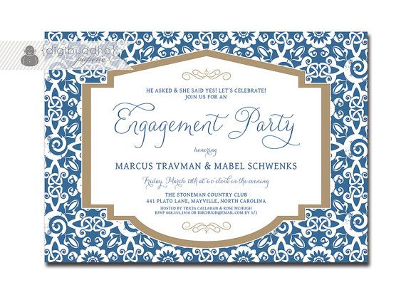 15 best Digibuddha Engagement Party Invitations images on - engagement invite templates