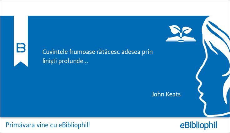 """""""Cuvintele frumoase rătăcesc adesea prin linişti profunde..."""" John Keats"""