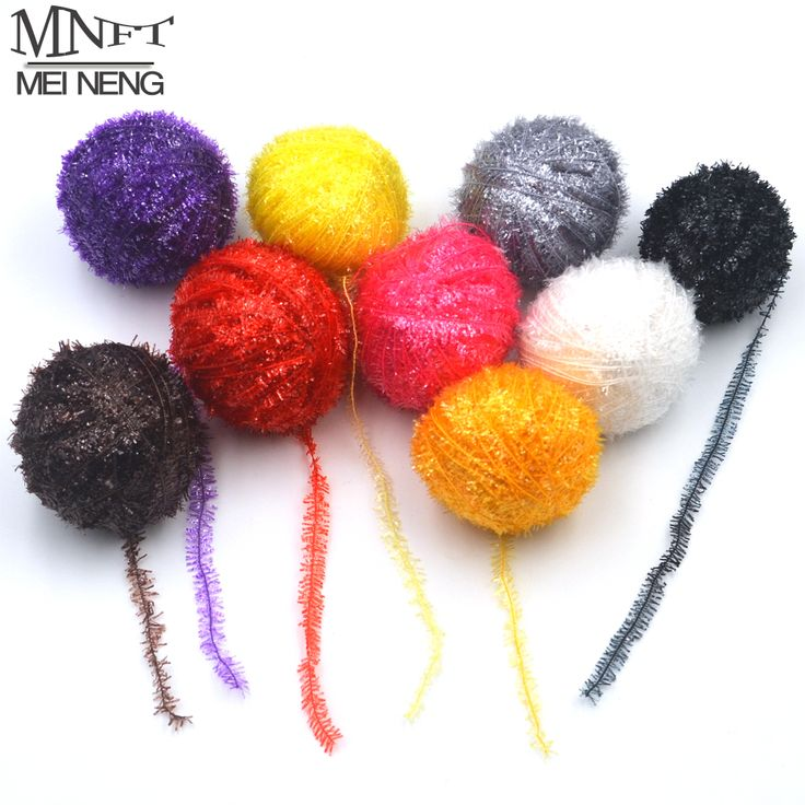 MNFT 750m 15 color/Lot Fly Fishing Tinsel Chenille Streamer Flies Making Crystal Flash Line Set Fly Tying Material Flies Tackles