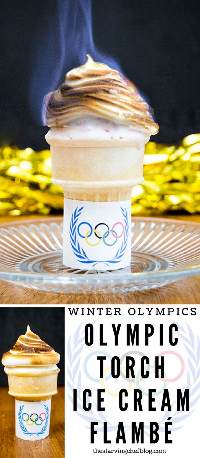 The Starving Chef | Pass the Olympic Torch - flame and all - with this easy ice cream flambe!