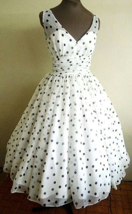 Black and white #Polka #Dot dress