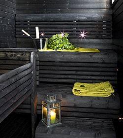 Musta sauna, aika ihana! Black sauna www.rakentaja.fi