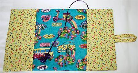 Como fazer capas para livros e agendas, decoradas com patchwork