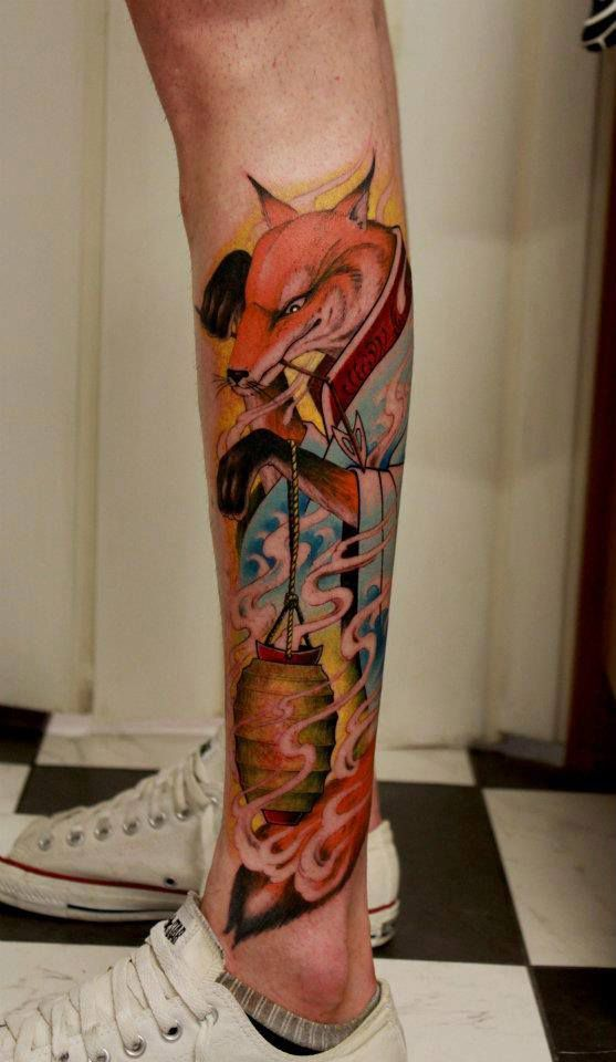 Fox tattoo japanese style by tattoo artist Thomas Gramm ...