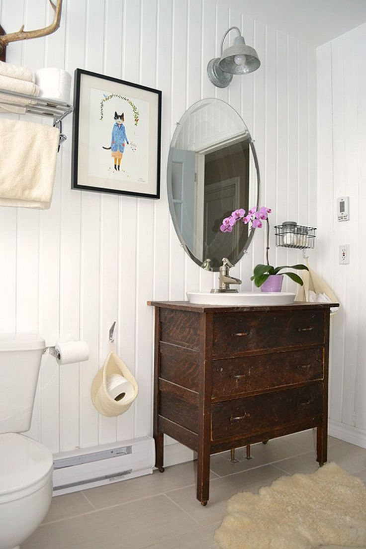 Diy dresser to vanity the owner builder network home for Bathroom cabinets in queens