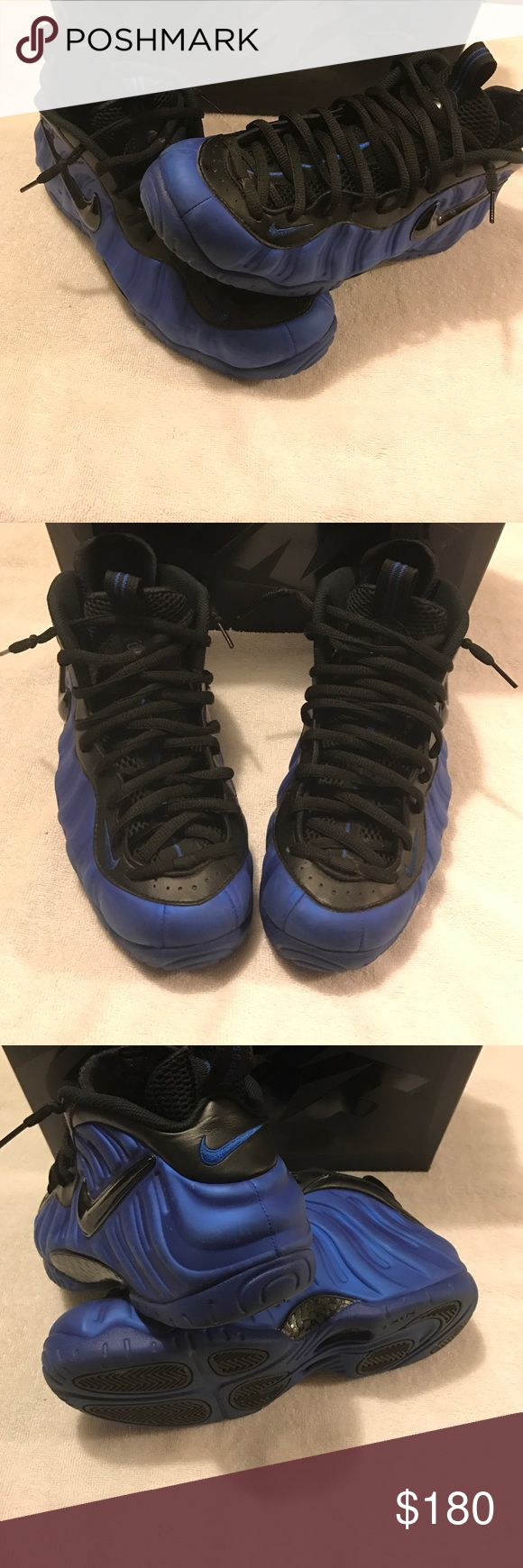 Air Foamposite Pro Authentic Hyper Cobalt and black Nike Air Foamposite Pro (Worn twice ) Nike Shoes Sneakers