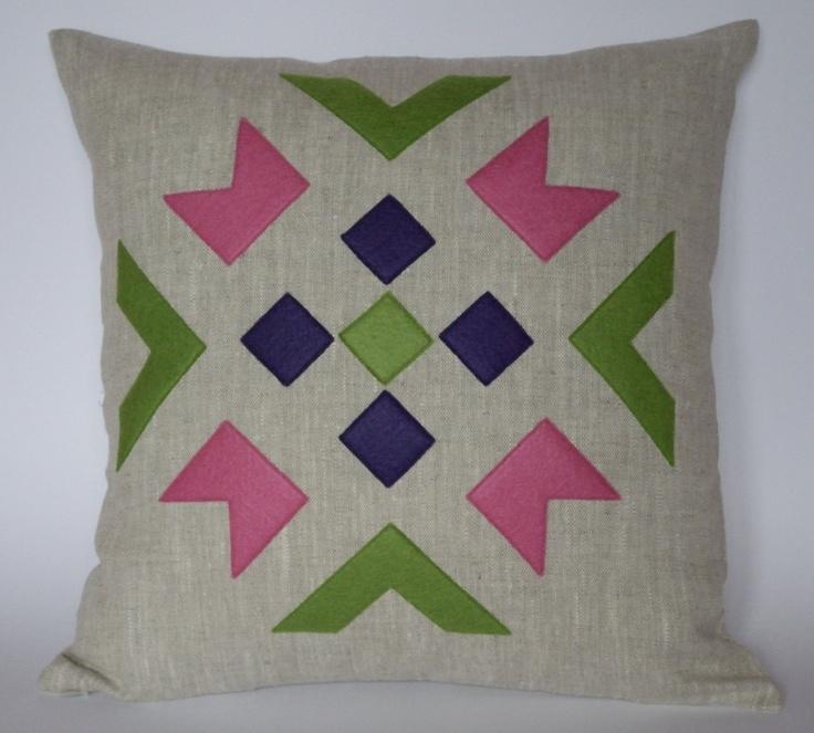 Linen eco felt pink green violet pillow cover. Handmade decorative pillow throw zipper & 18 best Pillow Ideas images on Pinterest | Cushions Pillow ideas ... pillowsntoast.com