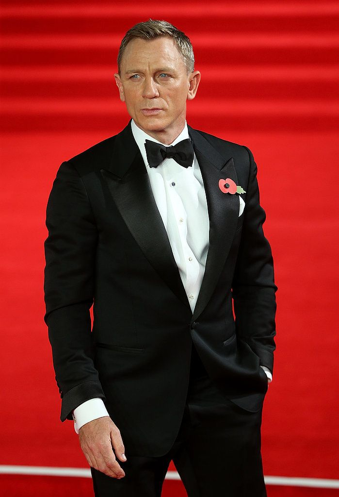 Daniel Craig looks good at the Royal Premiere of Spectre